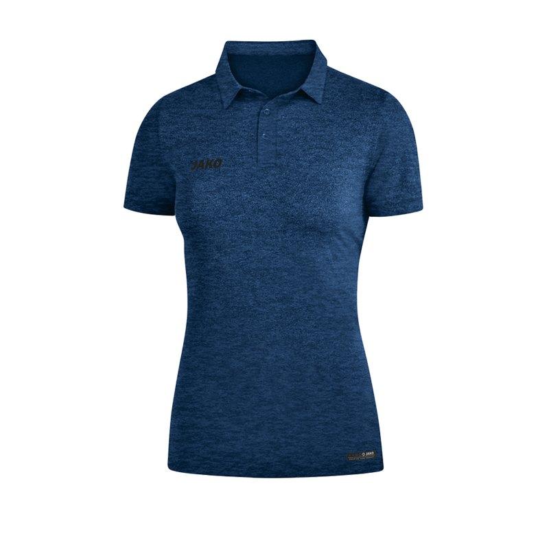 Jako Premium Basics Poloshirt Damen Blau F49 - Blau