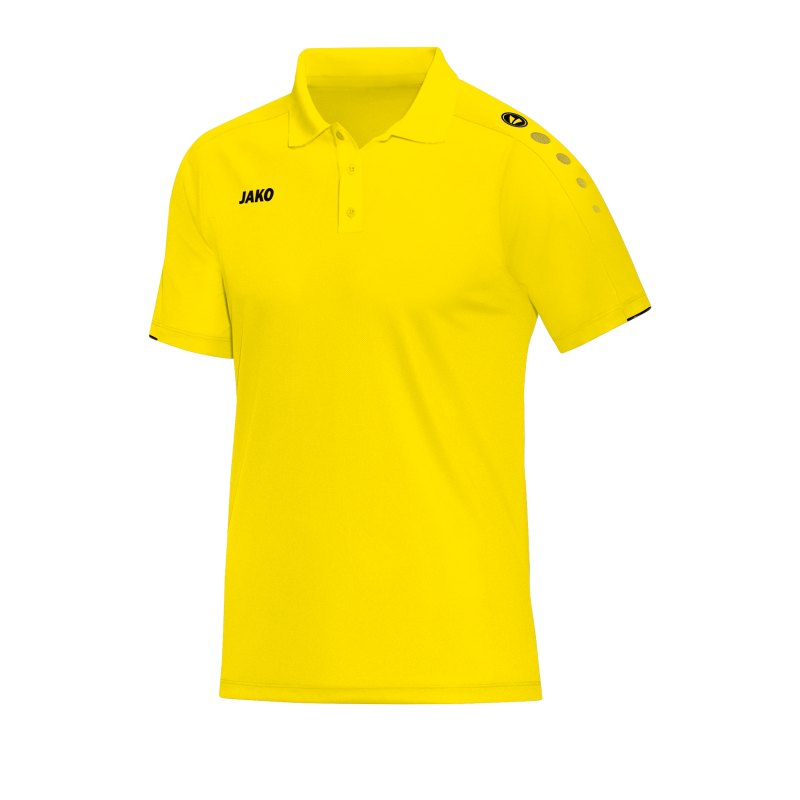 Jako Classico Poloshirt Damen Gelb F03 - Gelb
