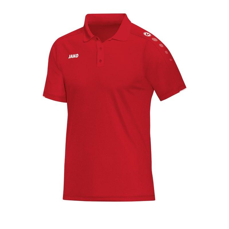 Jako Classico Poloshirt Rot F01 - Rot