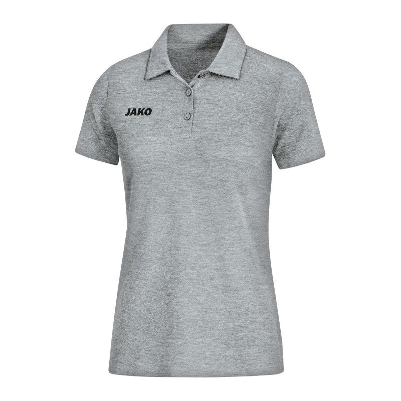 JAKO Base Poloshirt Damen Hellgrau F41 - grau