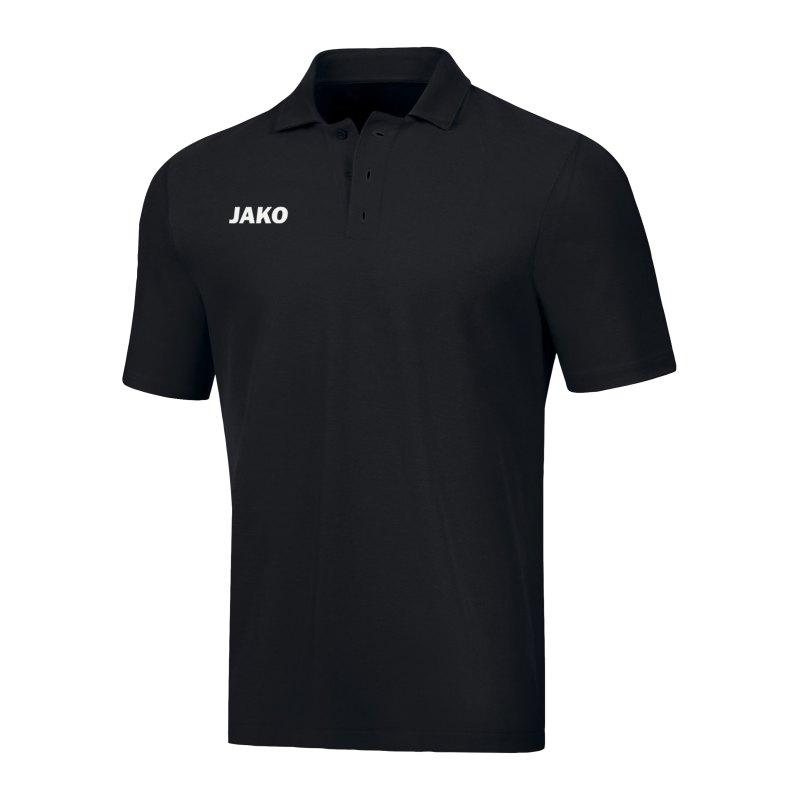 JAKO Base Poloshirt Schwarz F08 - schwarz