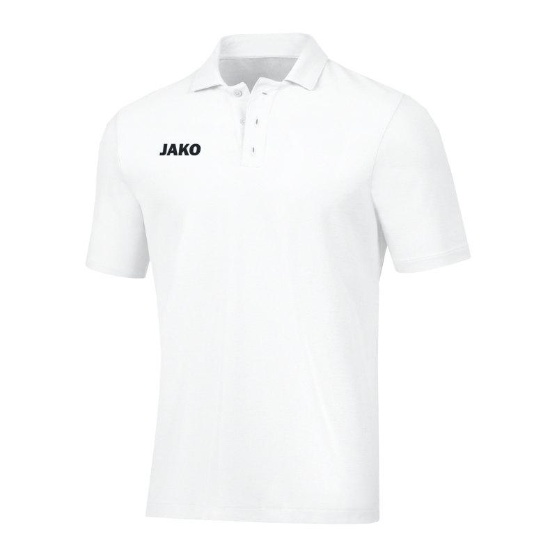 JAKO Base Poloshirt Weiss F00 - weiss