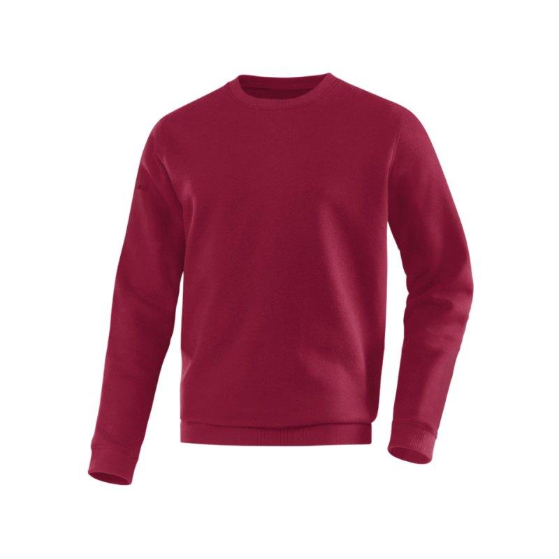 Jako Sweatshirt Team Sweat Dunkelrot F14 - rot