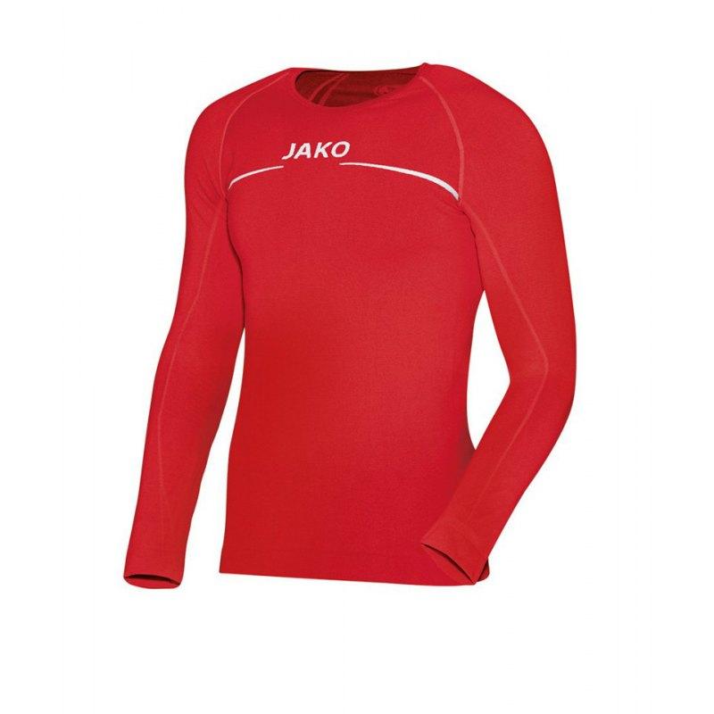 Jako Comfort Longsleeve Shirt Rot F01 - rot