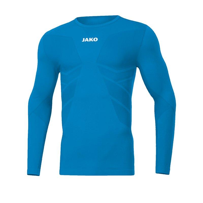 JAKO Comfort 2.0 langarm Kids Hellblau F89 - blau