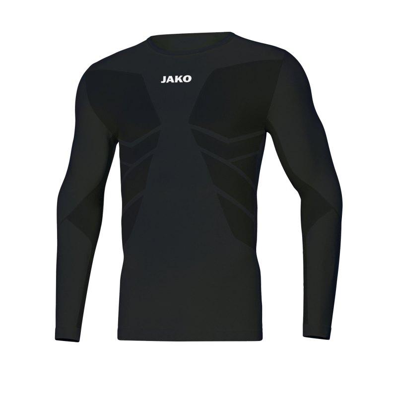 JAKO Comfort 2.0 langarm Schwarz F08 - schwarz