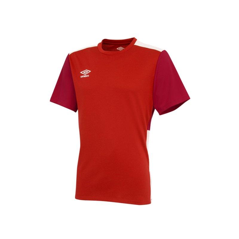 Umbro Training Poly Tee T-Shirt Rot FDNE - rot