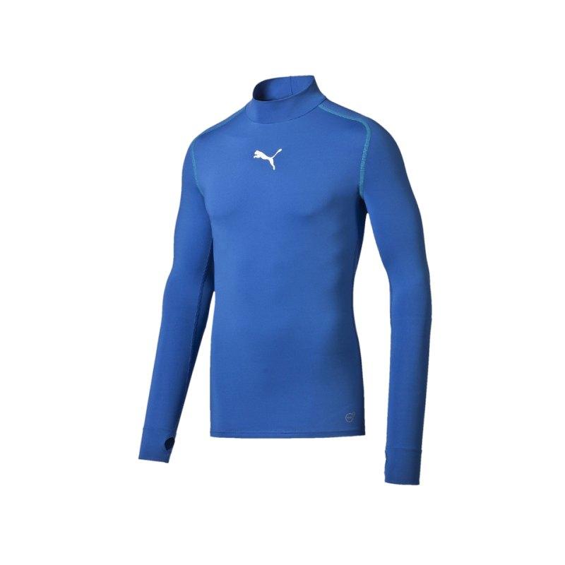 PUMA Shirt TB Longsleeve Warm Mock Blau F02 - blau