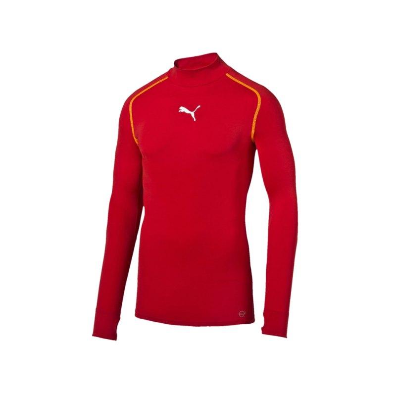 PUMA Shirt TB Longsleeve Warm Mock Rot F01 - rot