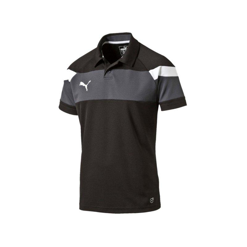 PUMA Spirit II Poloshirt Kids Schwarz Weiss F03 - schwarz