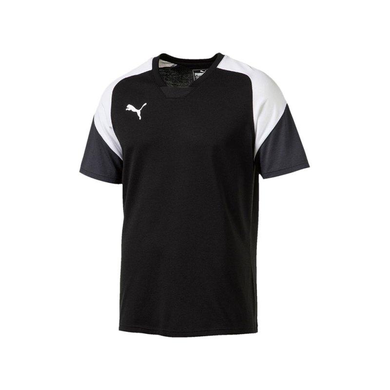 PUMA T-Shirt Esito 4 Tee Schwarz Weiss F03 - schwarz