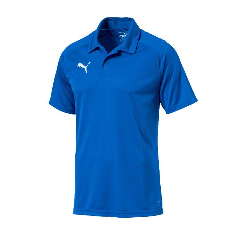 PUMA LIGA Sideline Poloshirt Blau F02 - blau