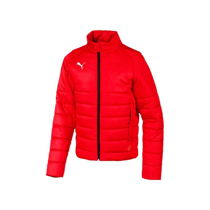 PUMA LIGA Casuals Padded Jacket Kids Rot F01 - rot