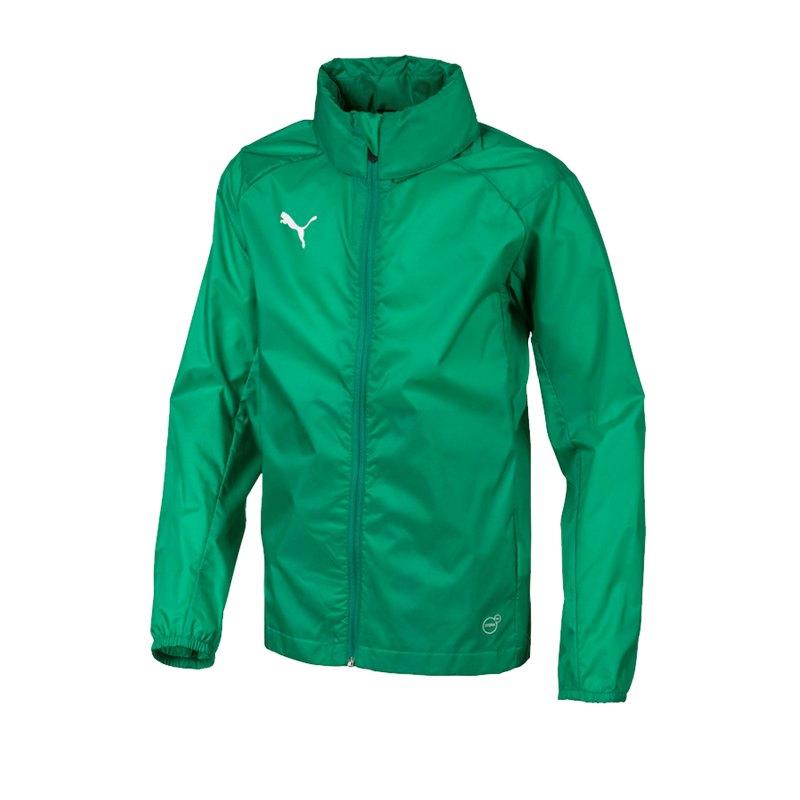 PUMA LIGA Training Rain Jacket Regenjacke Kids F05 - gruen