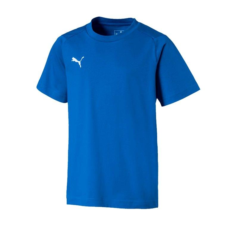PUMA LIGA Casuals Tee T-Shirt Kids Blau F02 - blau