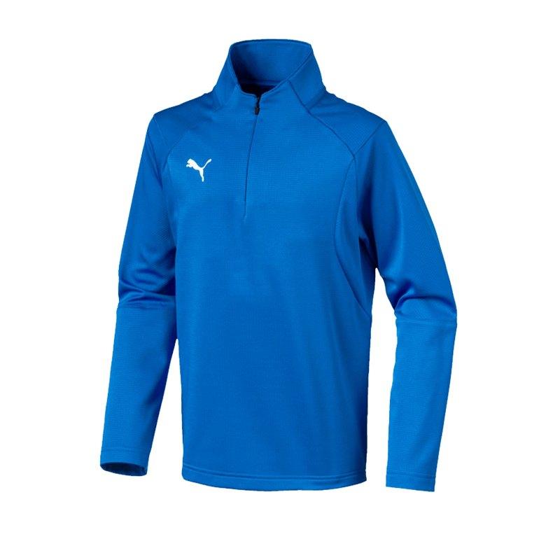 PUMA LIGA Training 1/4 Zip Top Sweatshirt Kids F02 - blau