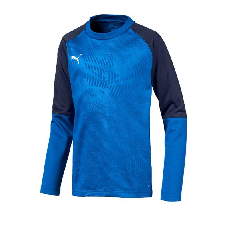 PUMA CUP Training Core Sweatshirt Kids Blau F02 - blau