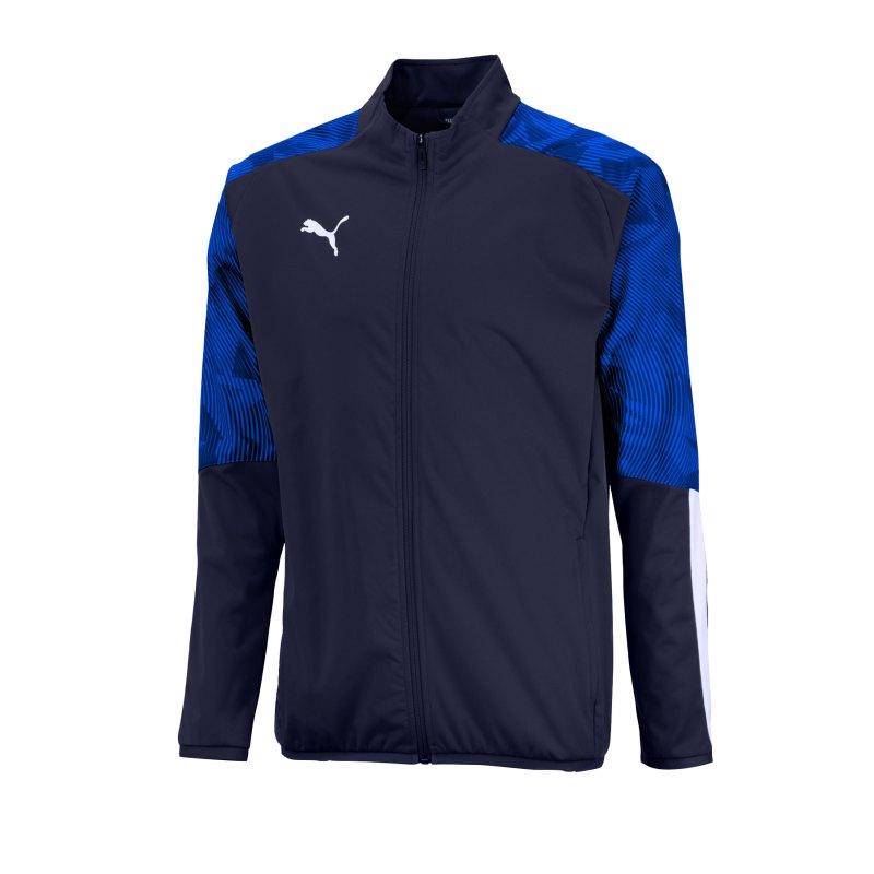 PUMA CUP Sideline Jacket Jacke Blau Weiss F02 - blau