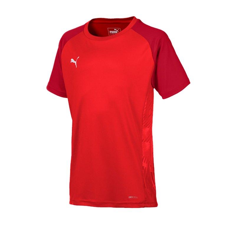 PUMA CUP Sideline Core T-Shirt Kids Rot F01 - rot