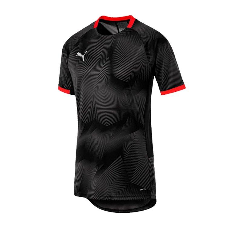 PUMA ftblNXT Graphic T-Shirt Schwarz Rot F01 - schwarz
