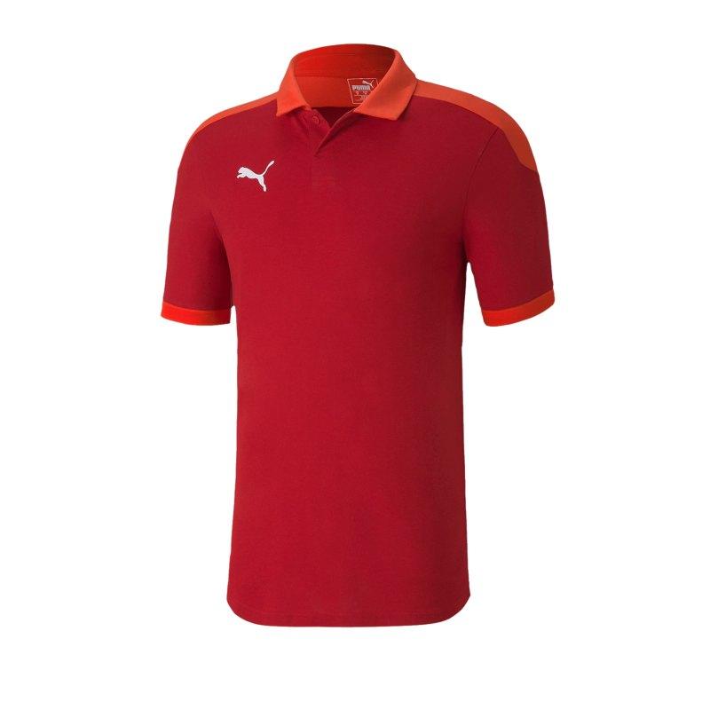 PUMA teamFINAL 21 Sideline Poloshirt Rot F01 - rot
