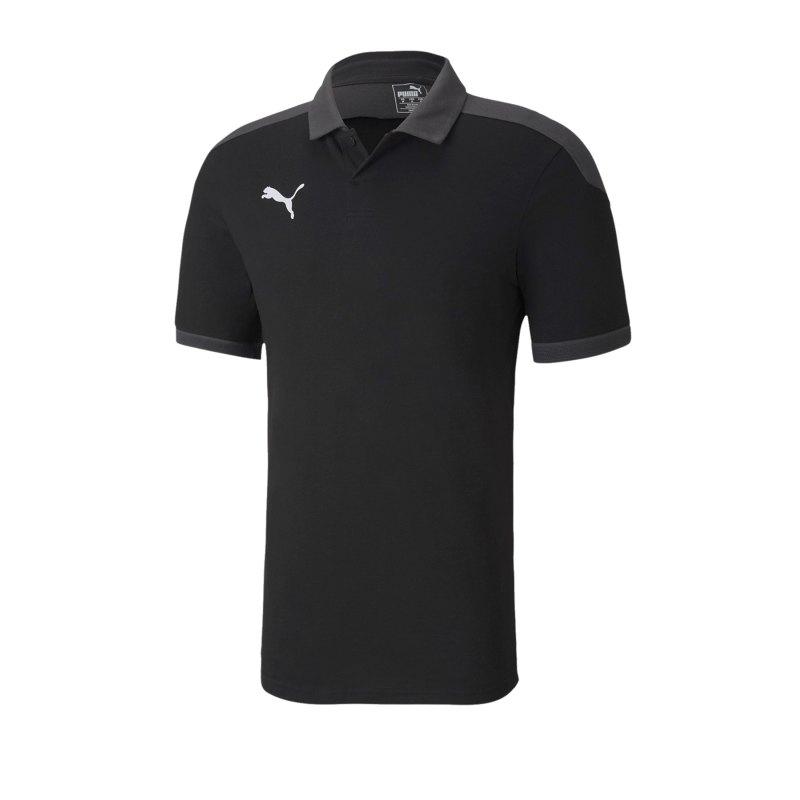 PUMA teamFINAL 21 Sideline Poloshirt Schwarz F03 - schwarz