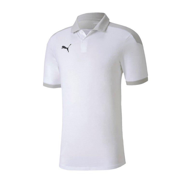 PUMA teamFINAL 21 Sideline Poloshirt Weiss F04 - weiss