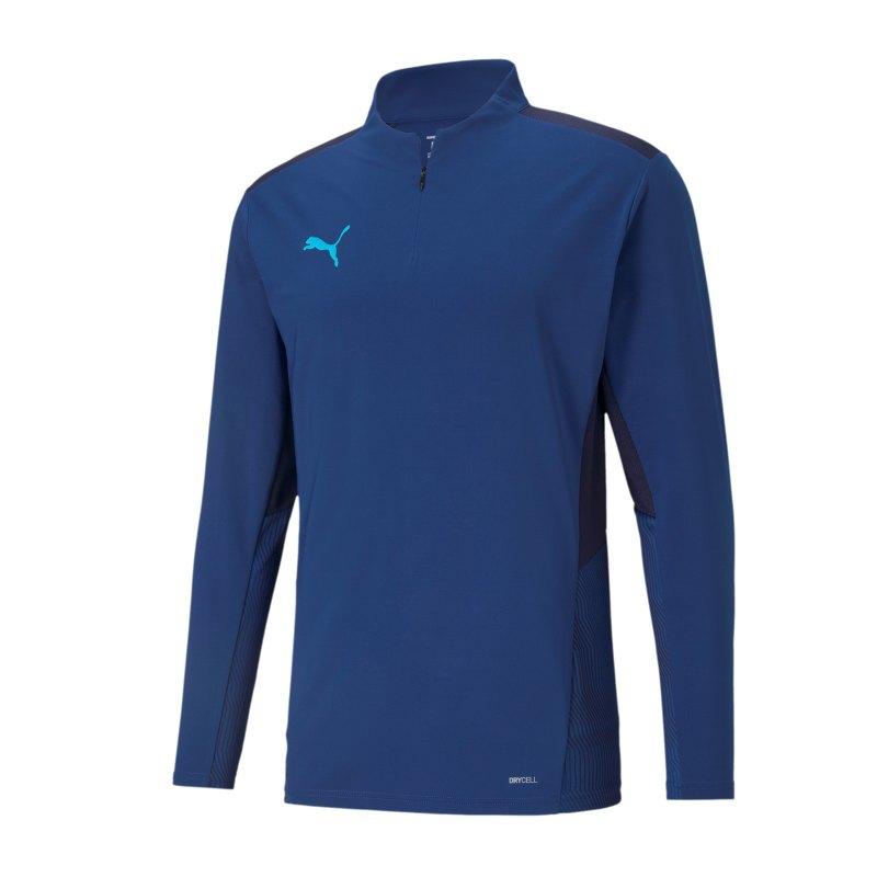 PUMA teamCUP HalfZip Sweatshirt Blau F02 - blau