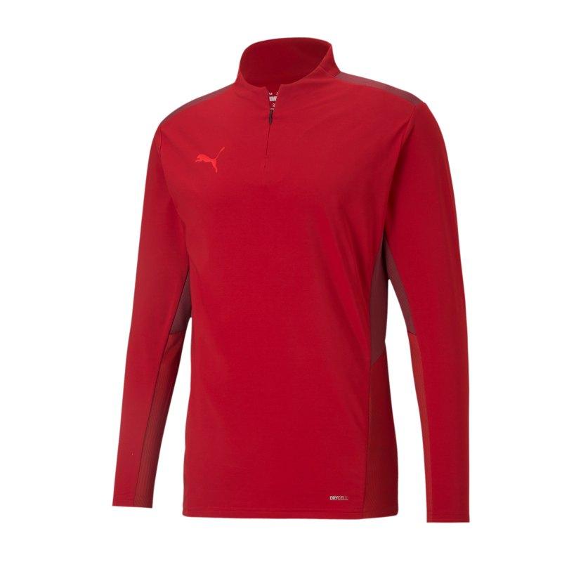 PUMA teamCUP HalfZip Sweatshirt Rot F01 - rot