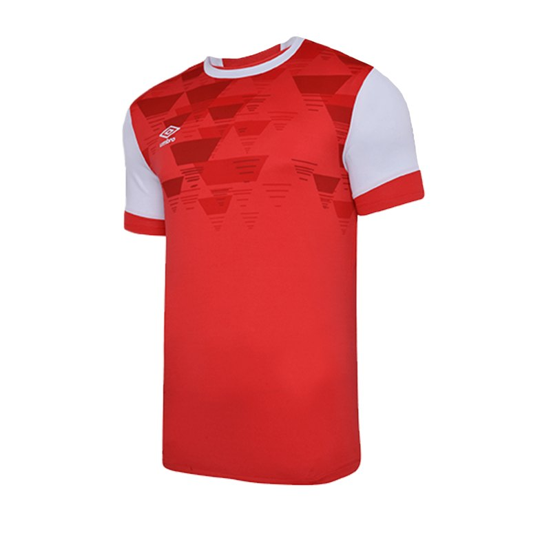 Umbro Vier Jersey Trikot kurzarm Rot Weiss FA54 - rot