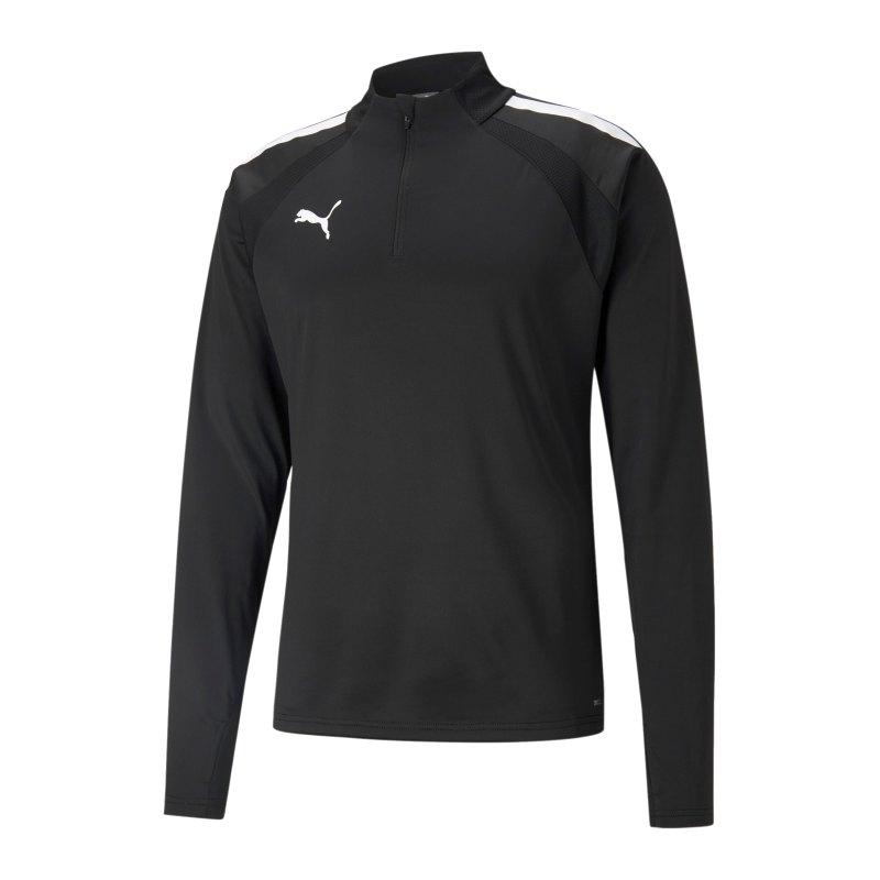 PUMA teamLIGA HalfZip Sweatshirt Schwarz F03 - schwarz