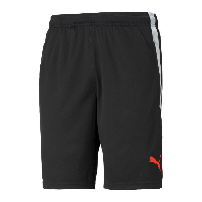 PUMA teamLIGA Short Schwarz Rot F41 - schwarz