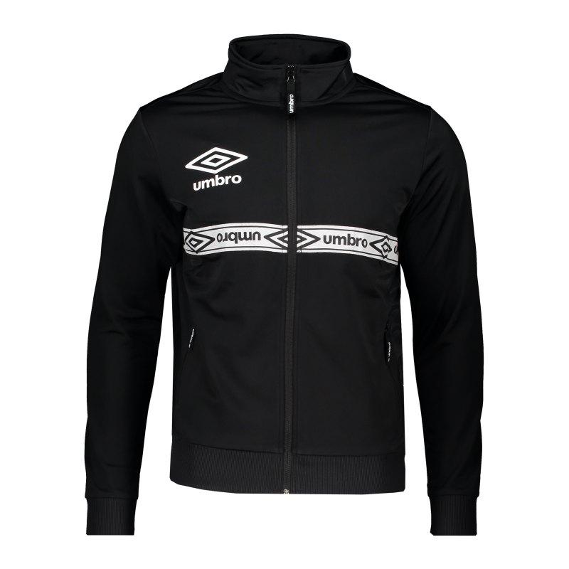 Umbro Taped Track Top Trainingsjacke Schwarz F060 - schwarz