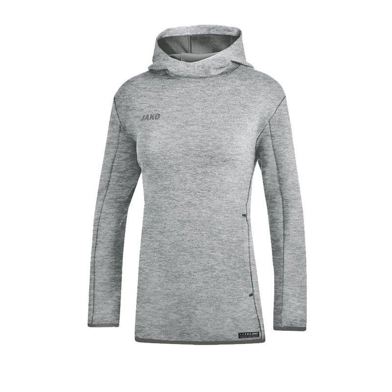 Jako Premium Basic Hoody Damen Grau F40 - grau