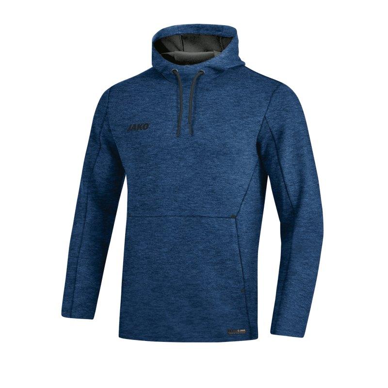 Jako Premium Basic Kapuzensweatshirt Blau F49 - blau
