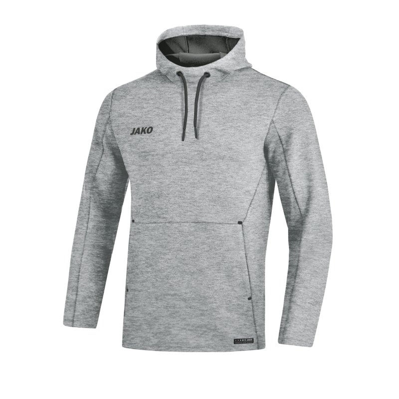 Jako Premium Basic Kapuzensweatshirt Grau F40 - grau