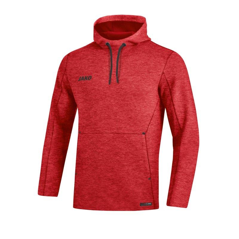 Jako Premium Basic Kapuzensweatshirt Rot F01 - rot