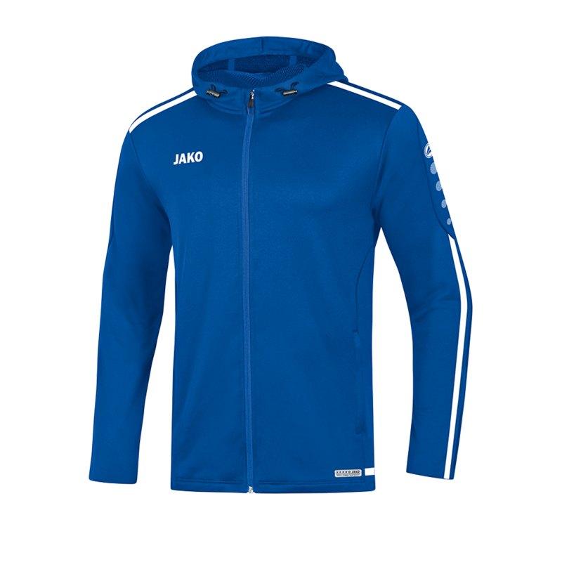 Jako Striker 2.0 Kapuzenjacke Damen Blau Weiss F04 - Blau