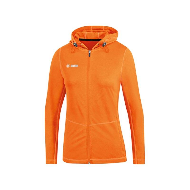 Jako Run 2.0 Kapuzenjacke Damen Orange F19 - Orange