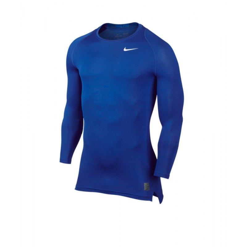 Nike Pro LS Shirt Cool Compression Blau F480 - blau