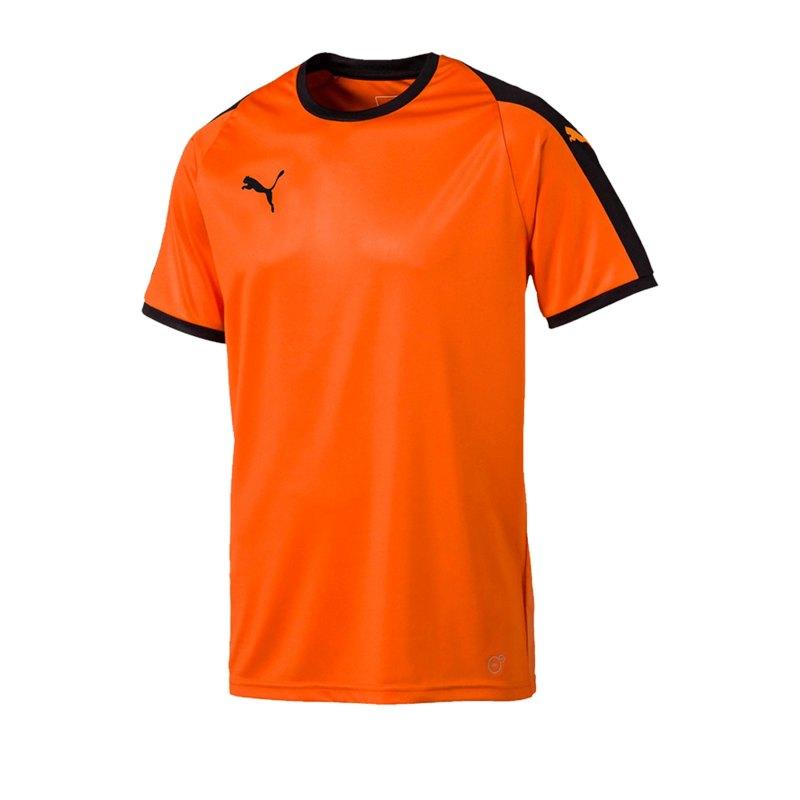PUMA LIGA Trikot kurzarm Orange Schwarz F08 - orange