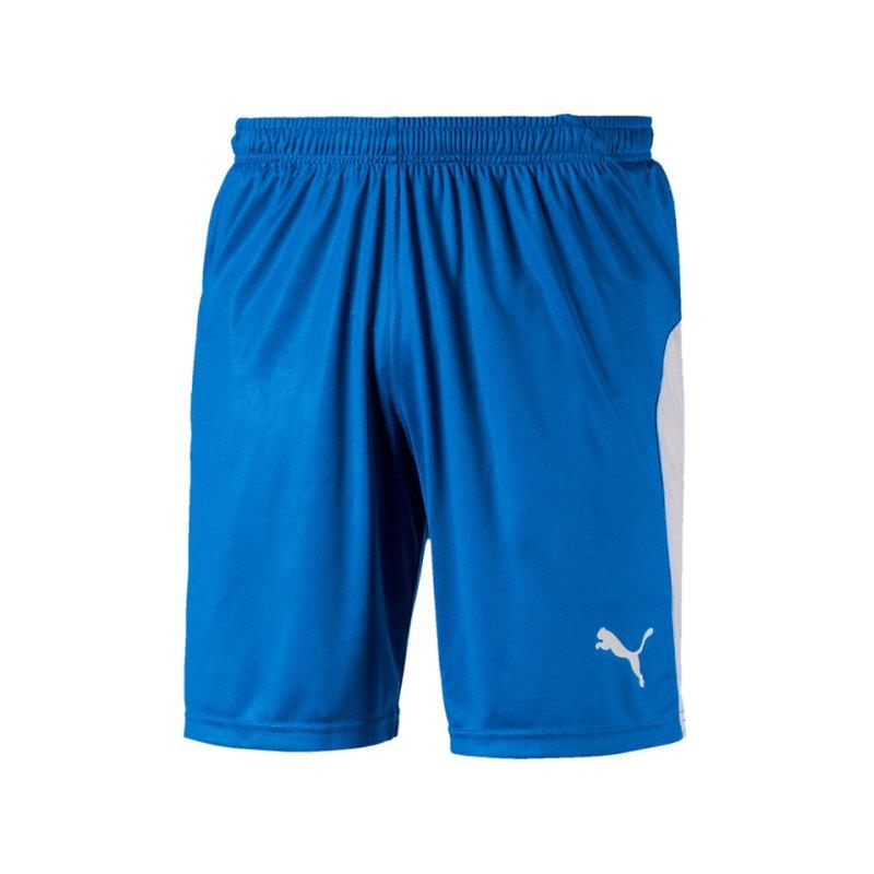PUMA LIGA Short Blau Weiss F02 - blau