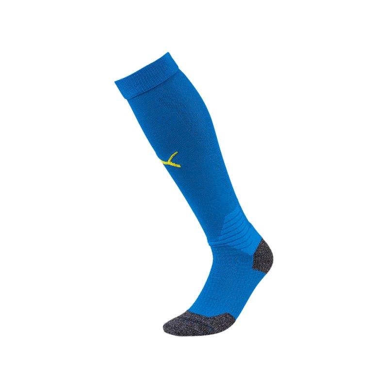 PUMA LIGA Socks Stutzenstrumpf Blau Gelb F16 - blau