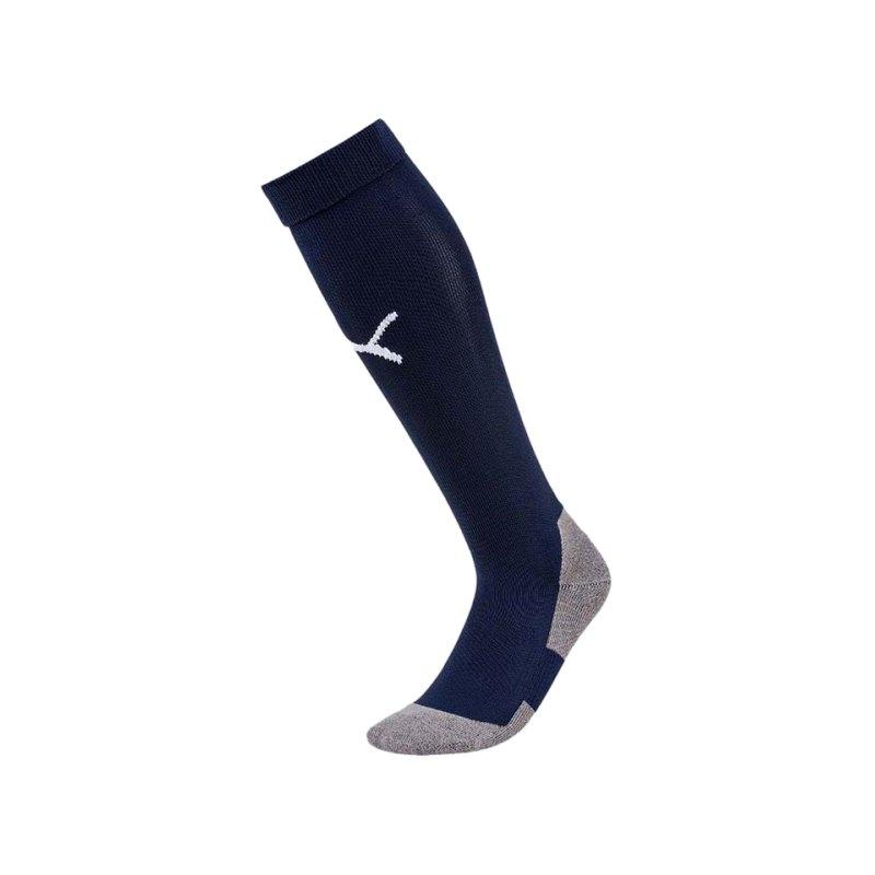 PUMA LIGA Socks Core Stutzenstrumpf Blau Weiss F06 - blau