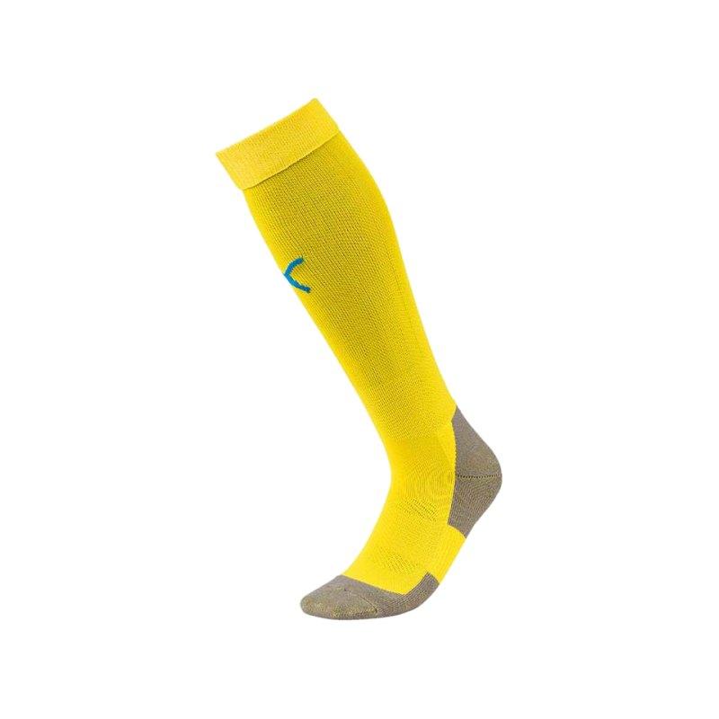 PUMA LIGA Socks Core Stutzenstrumpf Gelb Blau F17 - gelb