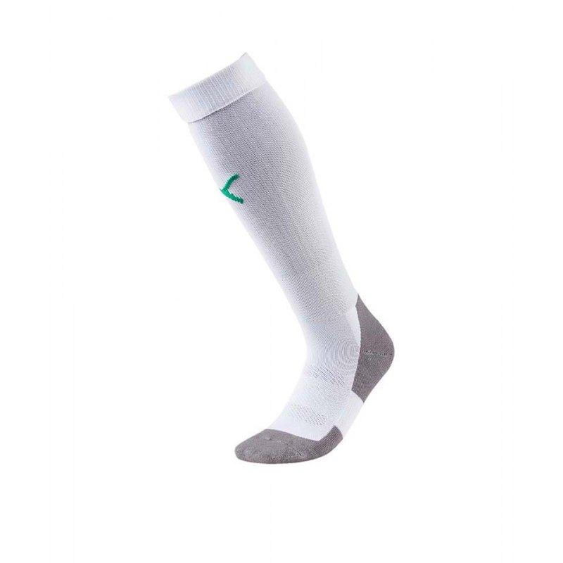 PUMA LIGA Socks Core Stutzenstrumpf Weiss Grün F15 - weiss