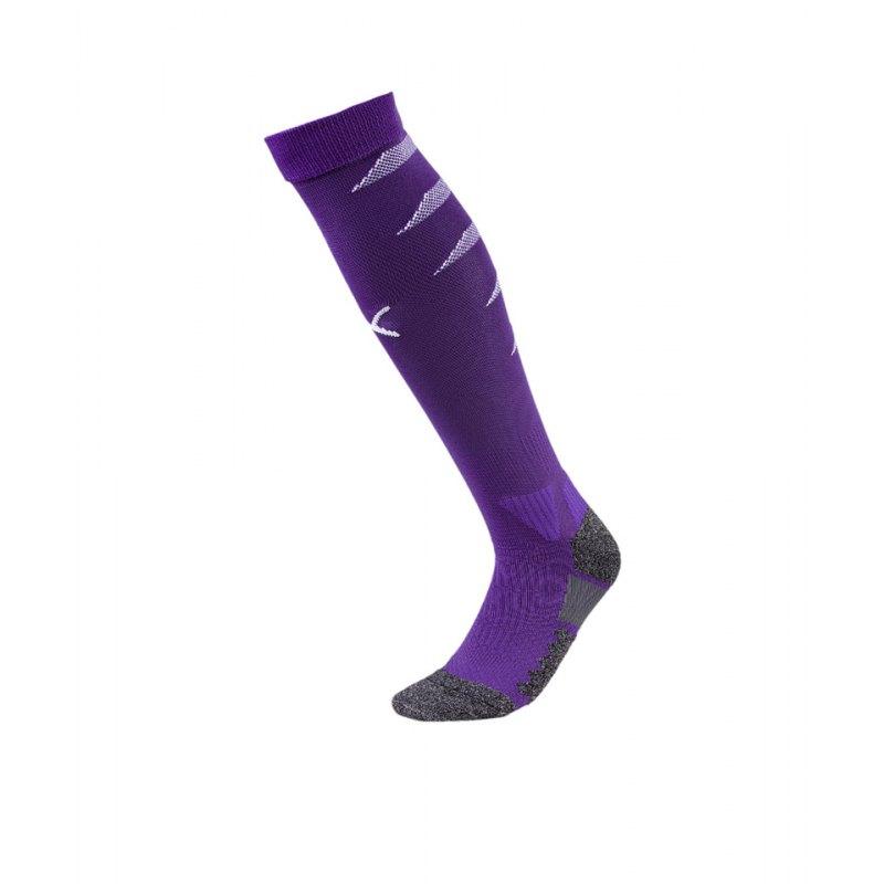 PUMA FINAL Socks Stutzenstrumpf Lila Weiss F10 - lila
