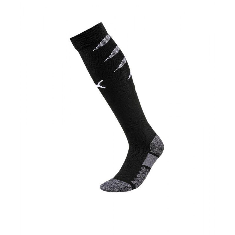 PUMA FINAL Socks Stutzenstrumpf Schwarz Weiss F03 - schwarz