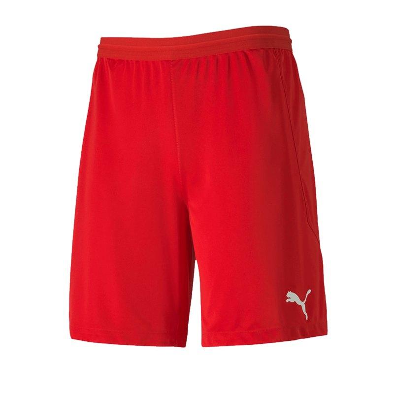 PUMA teamFINAL 21 Knit Short Rot F01 - rot