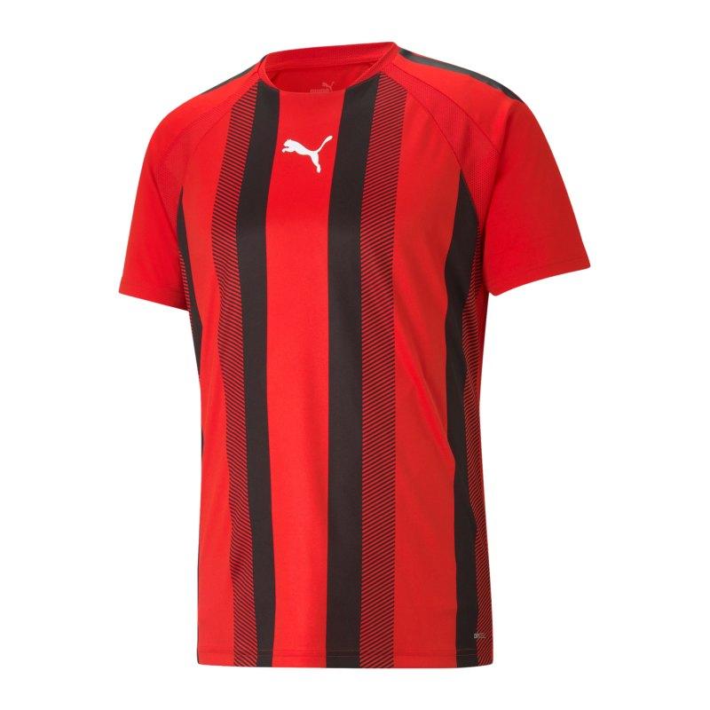 PUMA teamLIGA Striped Trikot Rot Schwarz F01 - rot